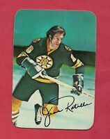 1976-77 OPC # 22 BRUINS JEAN RATELLE  GLOSSY INSERT CARD