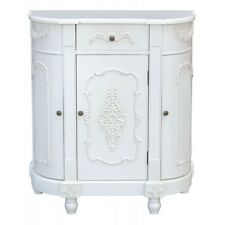 French-Boudoir-Painted Vintage Style Antique White Half Moon-Cabinet 24 HR SALE