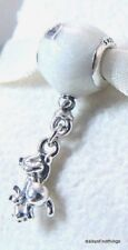 NWT AUTHENTIC PANDORA SILVER CHARM TEDDY AND BALLOON DANGLE #797034EN23 RETIRED