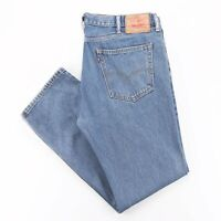 LEVI'S 505 Blue Denim Regular Straight Jeans Mens W38 L32
