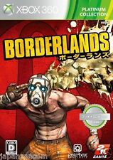 Used Xbox 360 Borderlands Platinum MICROSOFT JAPAN JAPANESE JAPONAIS IMPORT