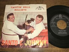 SANTO & JOHNNY BULLSEYE / TWISTIN' BELLS  45  With PICTURE SLEEVE