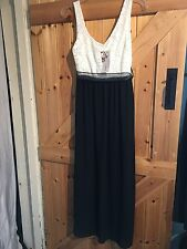 """Cameo Rose Black & White Long Dress. S/M Chest 32""""-34"""" Size 8-10 Approx Lovely"""