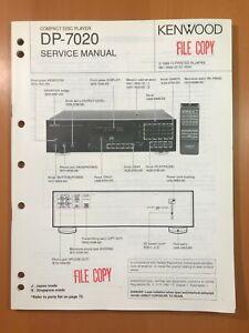 ORIGINAL SERVICE MANUAL & SCHEMATIC KENWOOD DP-7020 COMPACT DISC PLAYER D383