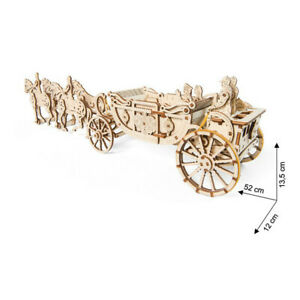 Ugears - Wood Model Building Royal Carriage 290 Pieces