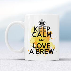 Keep Calm And Love BREW Splash Mug Gift Tea Lover Cuppa Cup Present