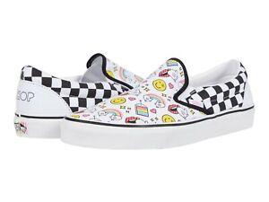 Vans Classic Slip On Flour Shop Checkerboard Men's Skate Shoes Size 9