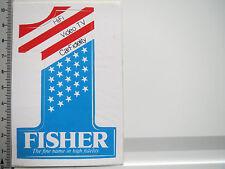 Adesivo sticker Fisher-alta fedeltà-Hifi-carfidelity (5258)
