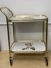 Vintage Retro Rose Cocktail Drinks Tea Hostess Trolley Two Tier Kitsch