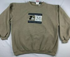 VTG 90s MICKEY MOUSE INC knit embroidered  beige MENS XL SWEATER disney world