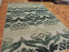 Modern 5x8, 5x7 Rug Vintage look area rug green shabby chic faded