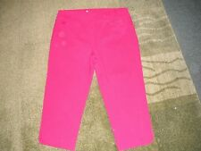 "AUTOGRAPH 3/4 PINK BLUSH STRETCH ""BENGALINE"" CROPS-SIZE 24-NWT NEW SEASON"