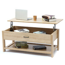 Modern Wood Lift Top Coffee Table With Storage Space Living Room Furniture