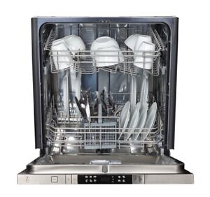 """ZLINE 24"""" Top Control Dishwasher with Stainless Steel Tub BUNDLE W/Panel"""