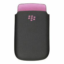 Genuine Blackberry Torch (9800) Leather Pocket (Pink Stitching & Emblem)