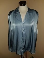Alfred Dunner Womens Size 22 Button Down top. Blue long sleeve