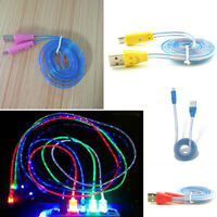 HB- Light-Up LED USB Data Sync Charger Cable Charging Cord for Android Cell Phon