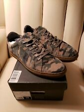Banana Republic Nicklas Suede Leather Sneakers, Green Camouflage Camo US 10 $128