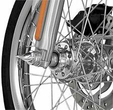 Kuryakyn - 1217 - Twisted Front Axle Caps, Pair (Chrome) Harley Davidson