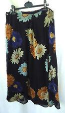 Dorothy Perkins Skirt Size 18 Blue Floral Pattern Lined Knee Length