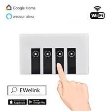 WIFI Smart Wall Light Touch Switch App Timer 4 Gang Alexa Google Home IFTTT