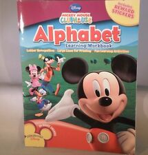 Mickey Mouse Club House Alphabet Learning Work Book Reward Stickers       TC12-3