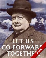 WWII WINSTON CHURCHILL QUOTE PROPAGANDA POSTER PAINTING REAL CANVASART PRINT