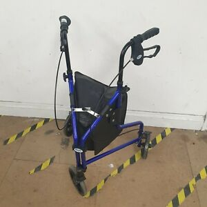 Days 3 Wheel Rollator Mobility Walker Aid Used Good Condition (G)