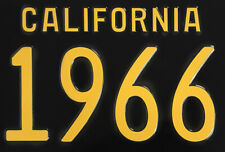 New! 1966 CALIFORNIA Vintage Look Black Yellow License Plate Free Shipping 66-C
