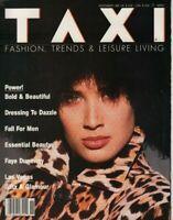 Taxi Fashion magazine November 1987 Faye Dunaway John Chan Stephan Gan 053019DBE