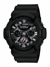 Mens Casio G-Shock Black Rubber Alarm Timer Digital Analog Watch GA201-1A