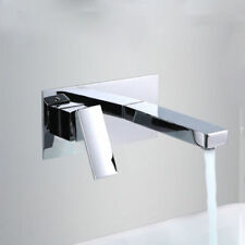 Bathroom  Basin Sink Faucet Single Handle Wall Mount Chrome Brass Tap Mixer