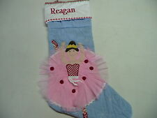Pottery Barn Christmas Stocking Ballerina Reagan Natasha Madisyn Matti