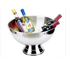 Stainless Steel Ice Bowl Metal Bar Beer Barrel Champagne Wine Big Ice Bucket