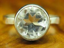 925 Sterling Silber Ring mit Bergkristall Besatz / Echtsilber / 3,9g / RG54