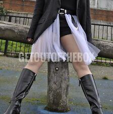 TFS Designer black denim shorts with contrasting white tulle skirt Size 12 BNWT