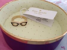 NEW KATE SPADE GORESKI GLASSES RING SIZE 7 GOLD PLATED-WBRU5715 KS BOX INCLUDED