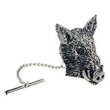 Wild Boars Head English Pewter Tie Tac / Tack - XTTTA44