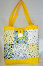 Quality Sewing Craft Kit - Patchwork Quilted Tote Bag Yellow
