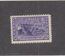 CANADA (MK899) # 261  VF-MH  50cts 1942 MUNITIONS FACTORY /VIOLET CAT VALUE $50