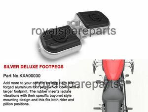 Genuine Royal Enfield Meteor 350cc Silver Deluxe Foot Pegs LH & RH