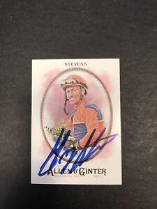 Gary Stevens Autographed Jockey Trading Card 2017 Topps Allen & Ginter
