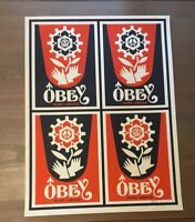 Shepard Fairey Obey Giant RISE ABOVE STAMP xx/150 Signed Numbered Screen Print
