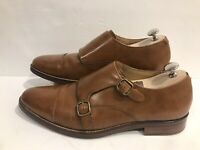 Cole Haan Grand Os Men's Double Monk Strap Brown Leather Shoes Size 9.5 M
