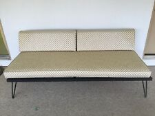 Vintage Mid Century Danish Iron Sofa Couch Daybed Hairpin Legs Spring Seat