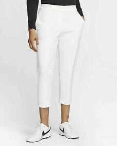 New Women's Nike Flex UV Victory 3/4 Golf Pants BV0178-100 Size Small NWT $85