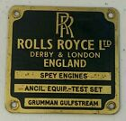 Vintage+ROLLS+ROYCE+Spey+Engines+Motor+Tag+Brass+Grumman+Gulfstream+Ancil+Rare%21