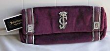 Juicy Couture Velvet Purple w Sliver Glitz & Rhinestones Large Clutch #YHRU3325