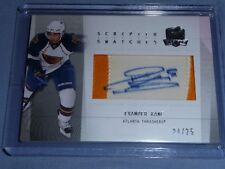 09-10 The Cup Scripted Swatches EVANDER KANE RC Auto Patch 24/25 RARE ROOKIE