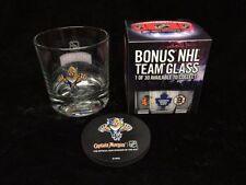 4 NHL Florida Panthers Glasses & Coasters Set - Smirnoff Captain Morgan Promo